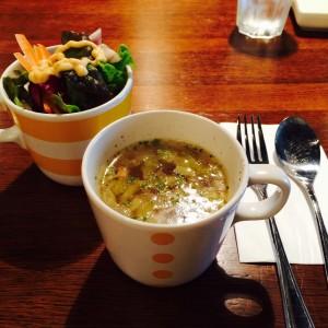 KEY'S SHELTA スープとサラダ 汤和沙拉